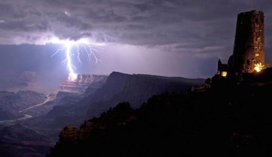 Grand Canyon Lightning Strike